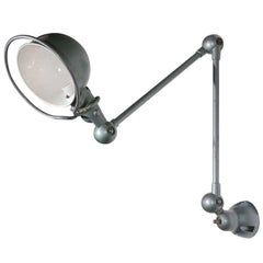 French Industrial Metal Lamp by Jean-Louis Domecq for Jielde Factory