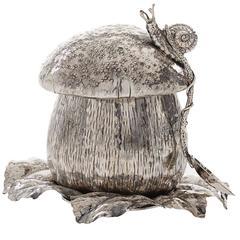 Sophisticated Handcrafted Mushroom Saucer