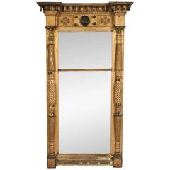 Large Antique Federal Pier Mirror, circa 1800-1820