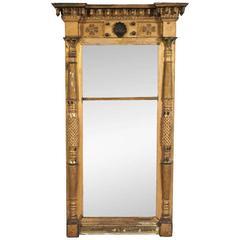 Large Antique Federal Pier Mirror, circa 1800-1820