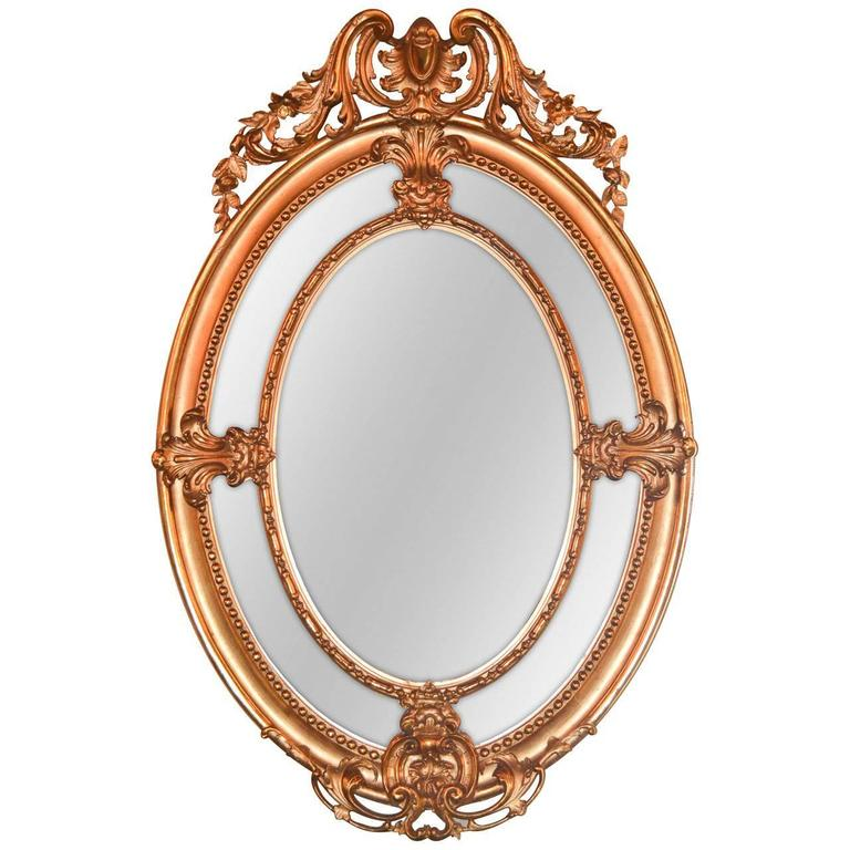 Early 19th Century English Oval Mirror