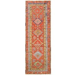 Antique Magnificent Serapi Runner
