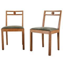 """Pair of """"Dagmar"""" Chairs by Axel Einar Hjorth for Nordiska Kompaniet"""