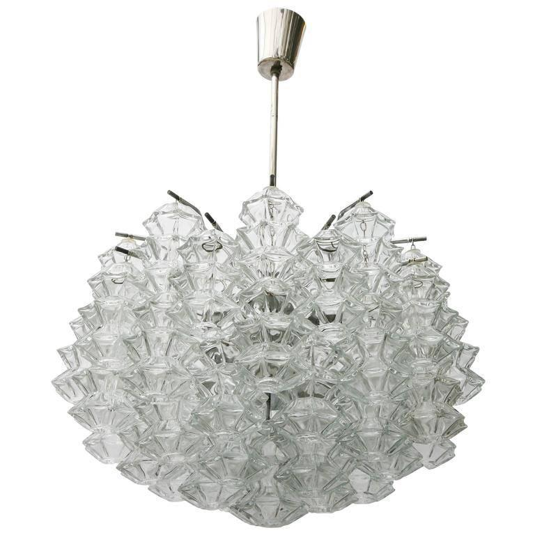 "Kalmar ""Pagoda"" Glass Chandelier For Sale"