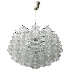 """Kalmar """"Pagoda"""" Glass Chandelier"""