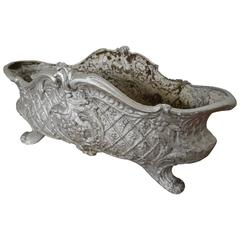 19th Century Oval French Cast Iron Planter