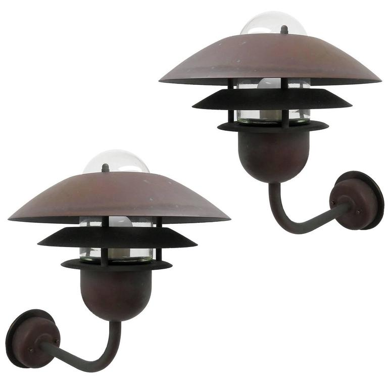 Pair of Scandinavian Outdoor Wall Lights by Horn 1