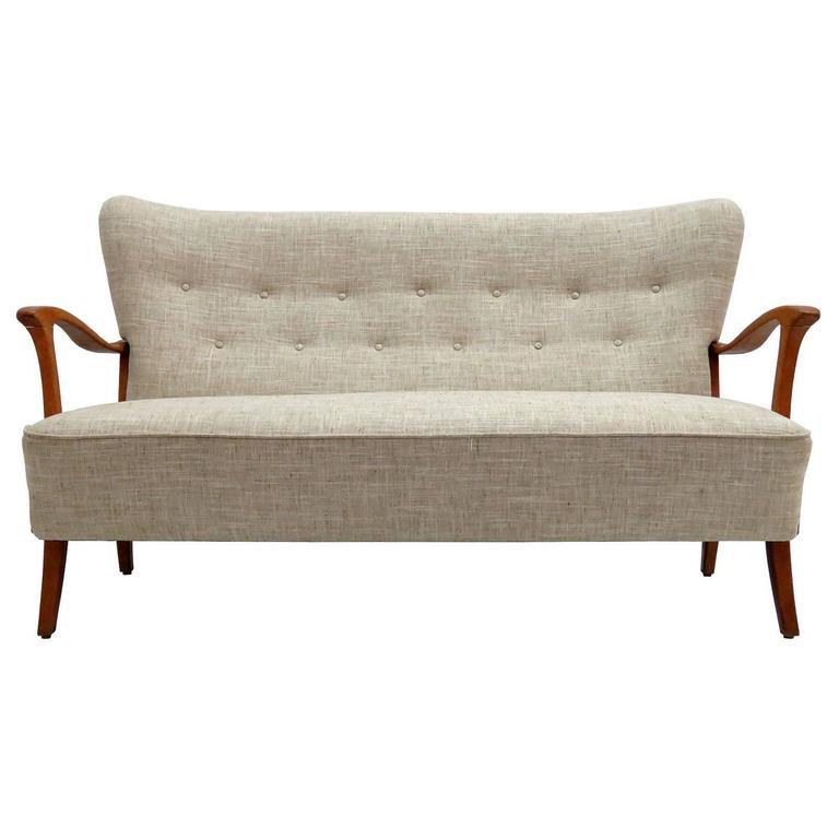 Three-Seat Danish Modern Sofa, 1940 1