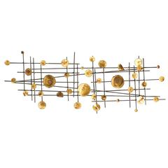 20th Century American Brass/Copper Wall Sculpture in the Style of Jere