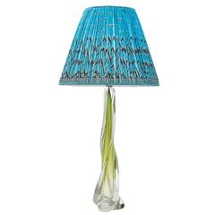 Large Green Glass Lamp by Guido Bon for Val St Lambert, circa 1950