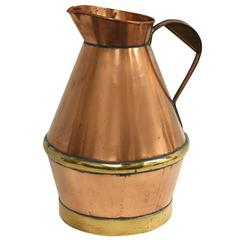 French Copper Pitcher
