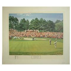 """""""The US Masters Golf Tournament"""" Lithograph"""