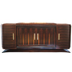 French Art Deco Sideboard in Macassar Ebony