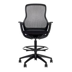 Modern Black Regeneration High Adjustable Task Chair by Formway for Knoll, USA
