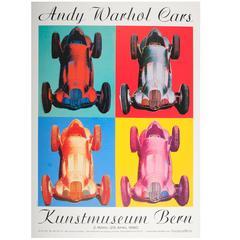 Large Original Vintage Mercedes Benz Pop Art Exhibition Poster, Andy Warhol Cars