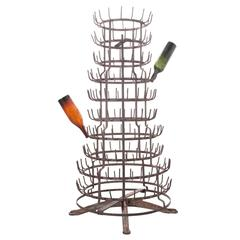 French Late 19th Century Tall Spinning Bottle Drying Rack