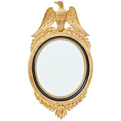 Early 20th Century French Gilt Oval Mirror