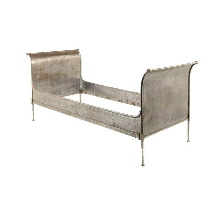Antique French Industrial Daybed For Sale