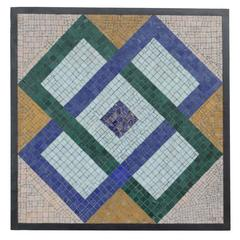 Mosaic Glass Tile Plaque by Charles Berg