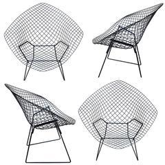 Mid-Century Harry Bertoia Diamond Chairs by Knoll