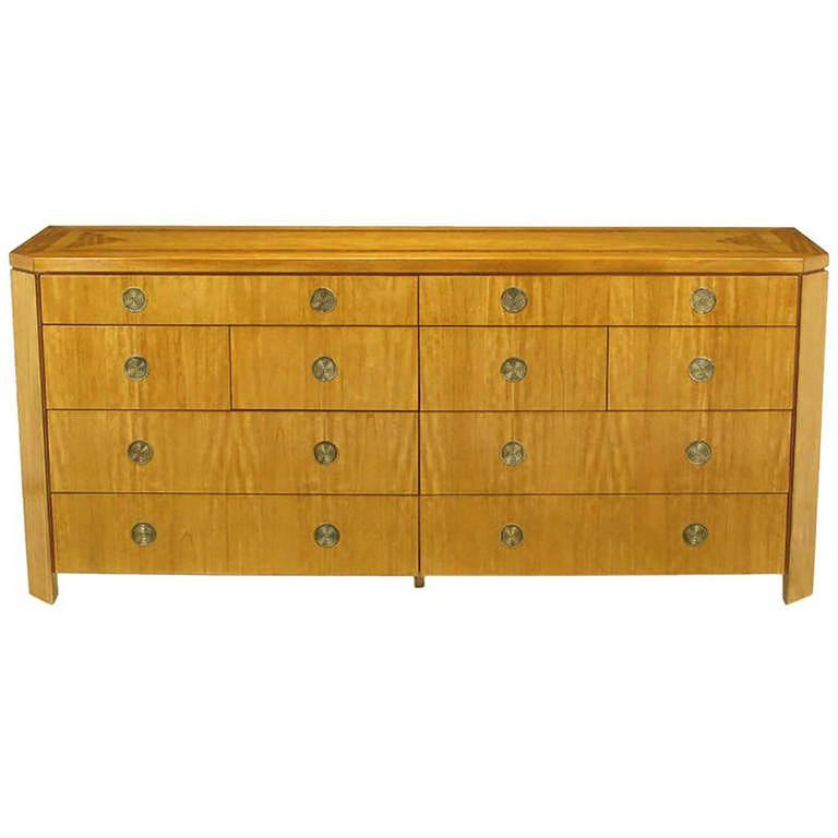 Charles Pfister for Baker Primavera Parquetry Inlaid Ten-Drawer Dresser