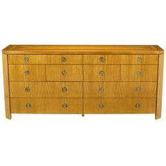 Charles Pfister for Baker Primavera Parquetry Inlaid Ten-Drawer Dresser