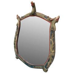 Large Norwegian Folk Art Mirror