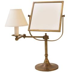 Metal Candle Mirror Adjustable Table Lamp by William Lipton Lighting, France