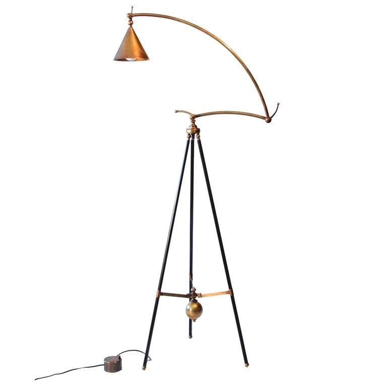 bronze adjustable giraffe floor lamp by william lipton lighting france 1 - Giraffe Lamp