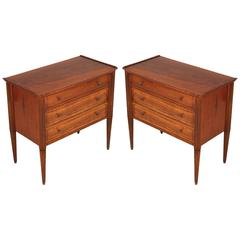 Pair of Italy Bedside Cabinet Nightstands Midcentury Modern Vittorio Dassi Style