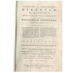 "Chippendale ""The Gentleman and Cabinet Makers Director"" 'Book'"