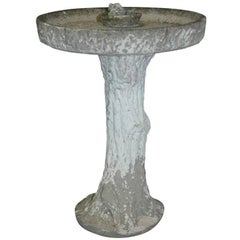 Circular Bird Bath on Naturalistic 'Trunk' Pedestal