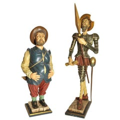 Lifesize Set of Don Quichotte and Sancho Pancho, Spain, 1960s