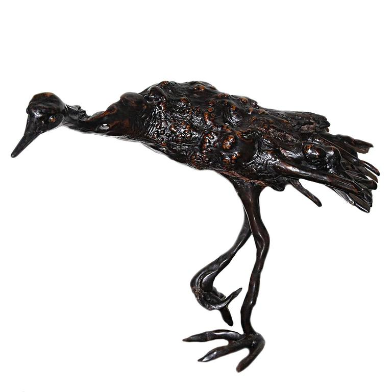 Antique Japanese Root Wood Bird Sculpture For Sale At 1stdibs