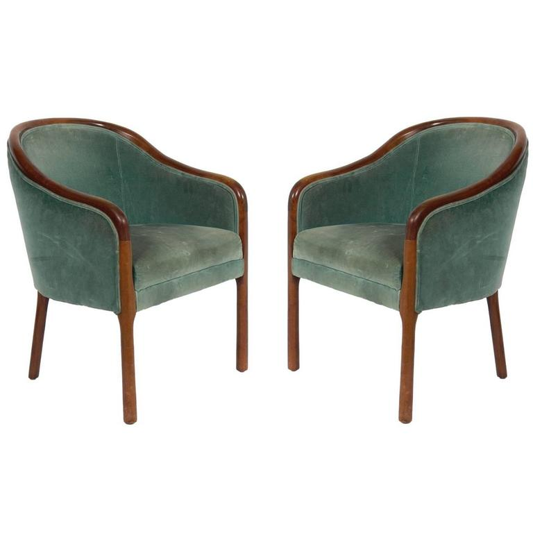 Pair of Curvaceous Armchairs by Ward Bennett