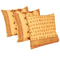 Decorative Tribal Design Ethnic Style Hand Print Cushion Pillow Cover, Qalamkar