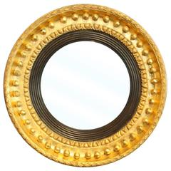 English Gilt Convex Mirror