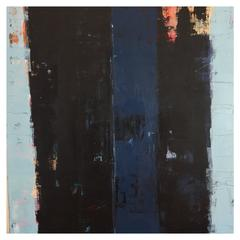 """Rebecca Ruoff, """"Blue Print"""", Large Blue Abstract Painting, 2017"""