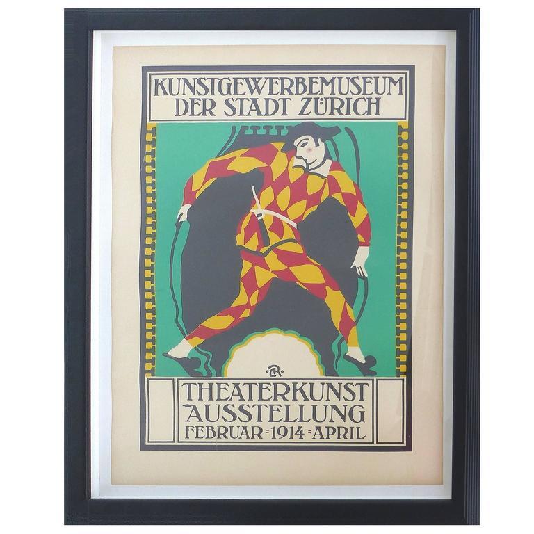 1914 Zurich Theater Poster
