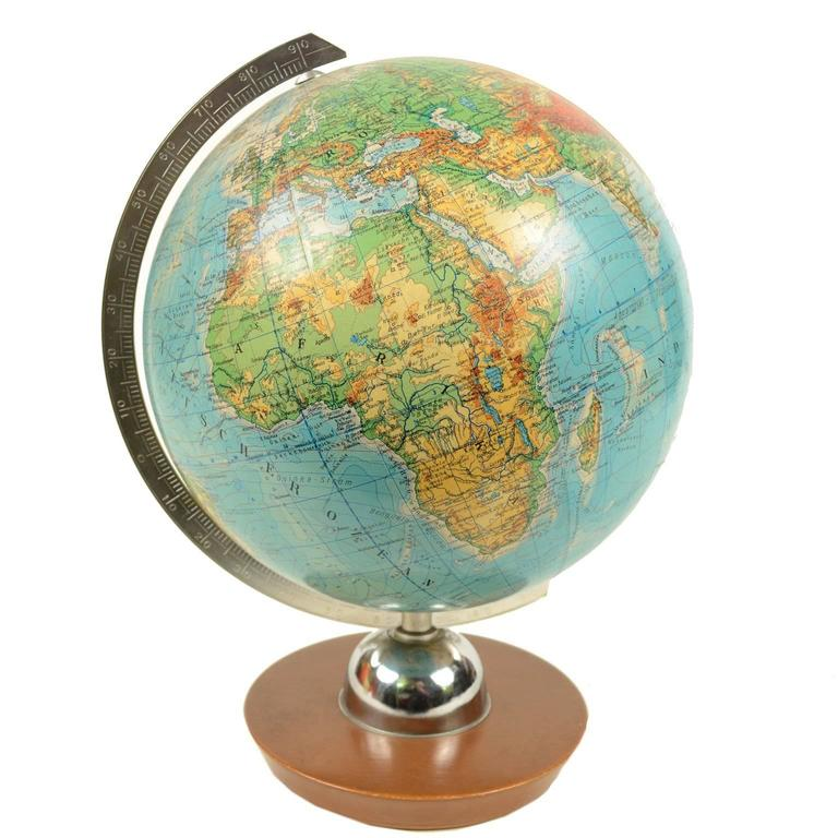 German Globe Made in the 1950s at 1stdibs