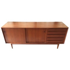 Johannes Aasbjerg Teak Credenza with Exposed Dovetail Case