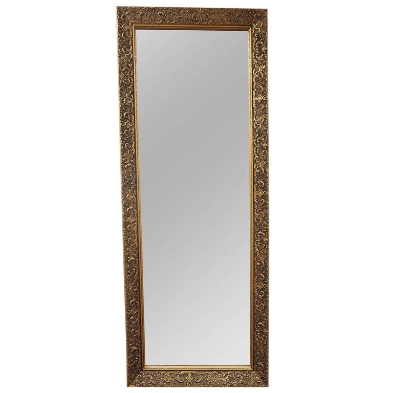 Long gilded mirror circa 1910 for sale at 1stdibs for Long narrow mirrors for sale