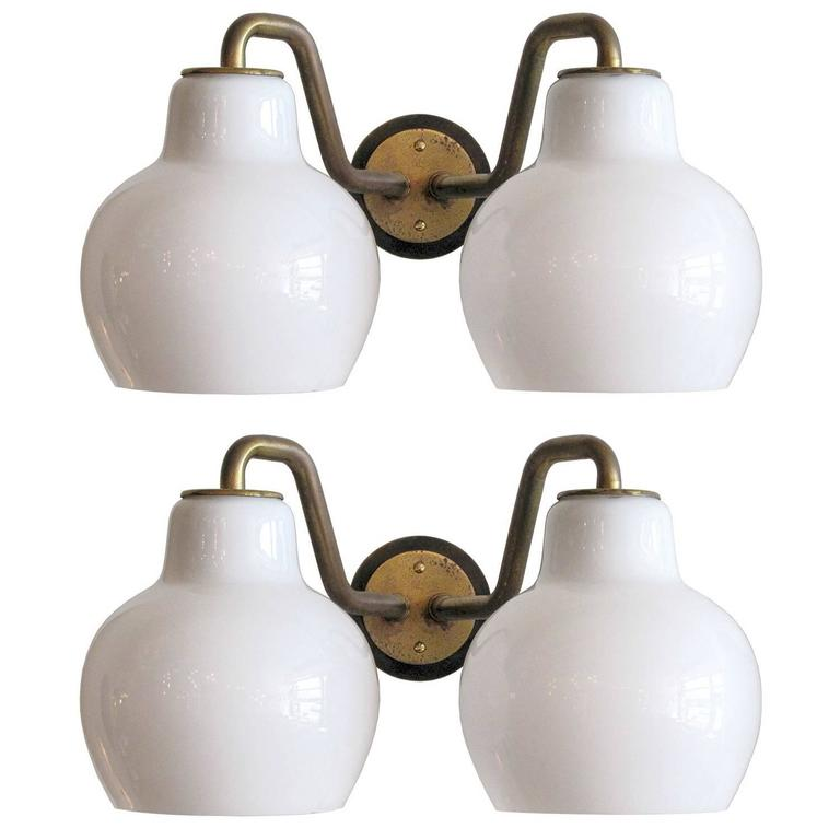 Pair of Vilhelm Lauritzen Double Wall Lights 1