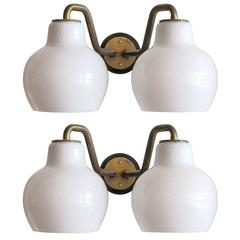 Pair of Vilhelm Lauritzen Double Wall Lights