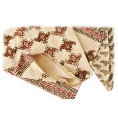 Decorative Tribal Design Ethnic Style Hand Print Runner, Qalamkar