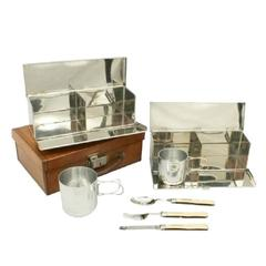 Picnic Set in Leather case.