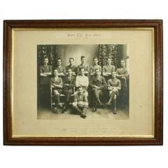 Vintage Football Team Photograph, Roftla F.C