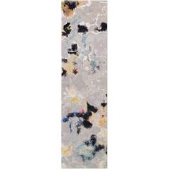 'Watercolors No. 03' Hand-Knotted Tibetan Contemporary Abstract Rug Wool & Silk