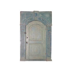 Hanging Corner Cupboard Strong Architectural Detailing, Original Paint