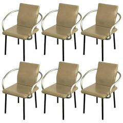 Six Ettore Sottsass Mandarin Chairs for Knoll